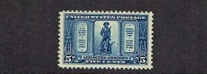 1925-U-S-Commemorative-Lexington-Concord-5-Cent-Blue-Sc-619-MInt-NH-OG