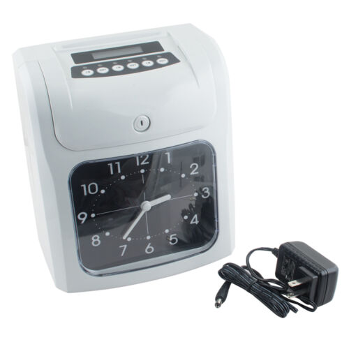 Pro Electronic Employee Analogue Time Recorder Time Clock w//Card Monthly//Weekly