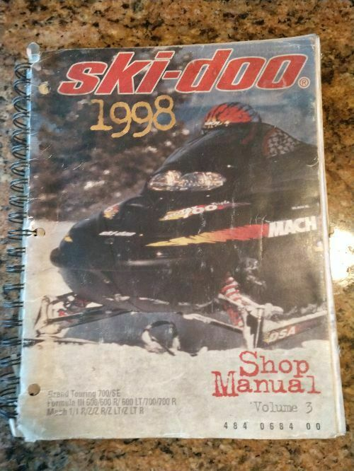 1998 SKI-DOO SHOP MANUAL VOLUME 3 Bombardier   484068400 484 0684 00    MT