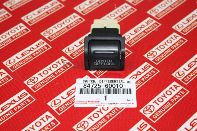 Toyota 84725-60010 1991 to 1996 Land Cruiser Center Differential Lock Switch Button OEM Genuine