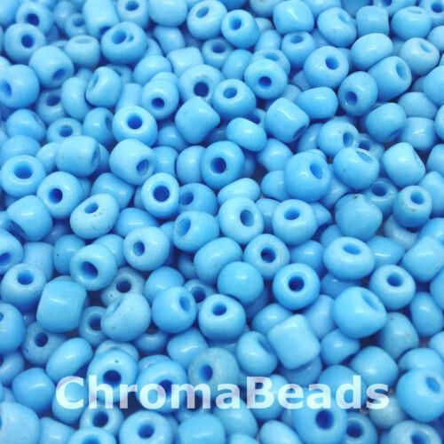 50g perles de rocailles en verre Opaque,taille 6//0 environ 4mm choix de couleurs