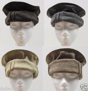 dark brown color Handmade afghan pakol pakul wool hat cap topi for men and women
