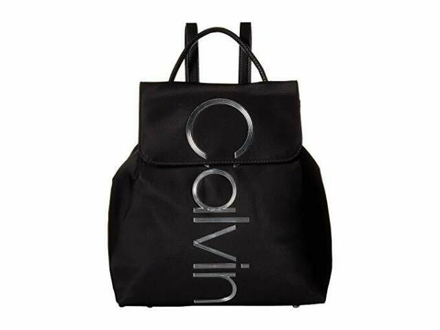 foto de Calvin Klein Womens Hailey City Backpack Black for sale online   eBay