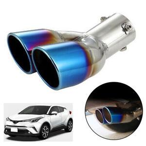 For Toyota C-HR CHR 2016-2019 Car Accessories Rear Exhaust Muffler Tip Pipe Blue