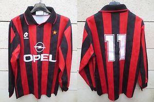 VINTAGE-Maillot-MILAN-AC-Lotto-SIMONE-n-11-maglia-shirt-Milano-S-M-trikot-Opel