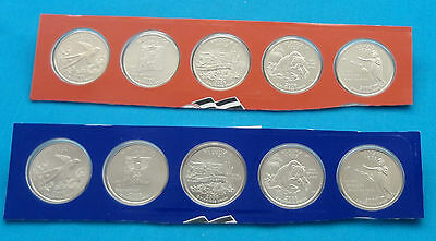 BU Uncirculated-still in mint cellos-TEN COINS 2002 P and D State Quarters