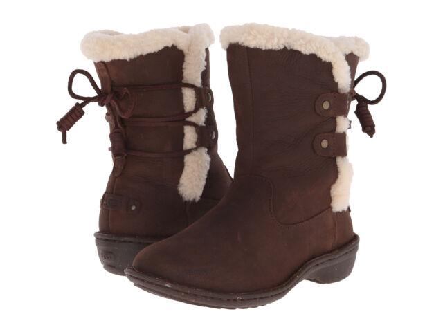 a276d4f1cfe Women UGG Australia Akadia Boot 1007760 Stout Leather 100 Authentic 7