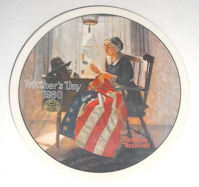 """Norman Rockwell Mother's Day 1980 8-1/2"""" Collector Knowles Limited Edition Plate"""