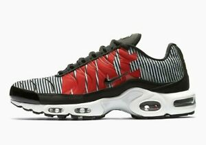 Details about Nike Air Max Plus TN SE (Size 9 11.5) Striped Black White Red AT0040 001 Zebra