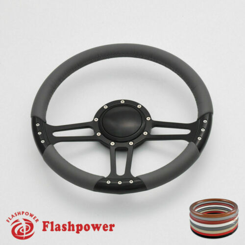 14/'/' Billet Steering Wheels Red Half Wrap Hot Rod GM Buick Riviera Lesabre GMC