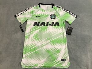 the best attitude 8e66a d3f4f Details about Nike Nigeria Squad Soccer Top Men's sz SMALL S White Green  Black 893364 100 NWT