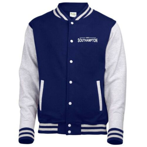 100/% Southampton Fan Varsity Jacket Mens