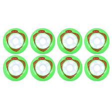 76mm  Inline Skate Wheels by Trurev for rollerblading.  (pack of 8 wheels)
