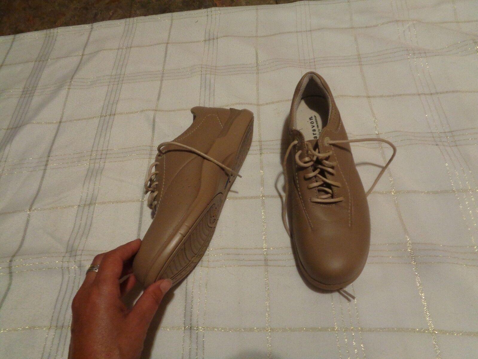 Aravon wef075d dark tan leather lace up scarpe scarpe scarpe Dimensione 9 2A f98910