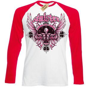 Sinister-T-Shirt-skull-wings-gothic-Mens-Baseball-t-shirt