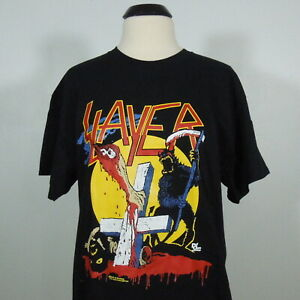 SLAYER-Reign-In-Blood-Tour-86-87-T-Shirt-Black-Men-039-s-size-M-NEW