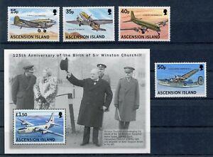 Ascension-MiNr-776-79-Block-35-postfrisch-MNH-Flugzeuge-FZ413