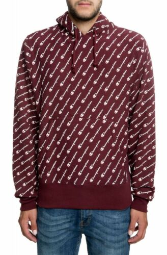 Champion Maroon Reverse Weave All Over Print Hoodie
