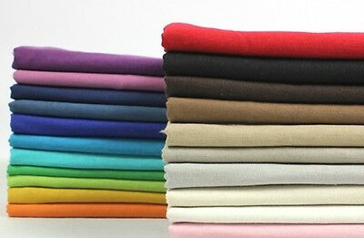 Muti-Color Solid By the Meter 100% Linen Fabric Apparel & Fashion Decor General