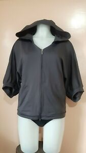 EUC-Danskin-Gray-Hooded-Wide-sleeve-Jacket-sz-M-on-tag-fits-up-to-L