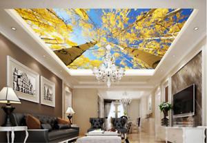 3D Sunshine Birch Tree 7 Ceiling Wall Paper Print Wall Indoor Wall Murals CA