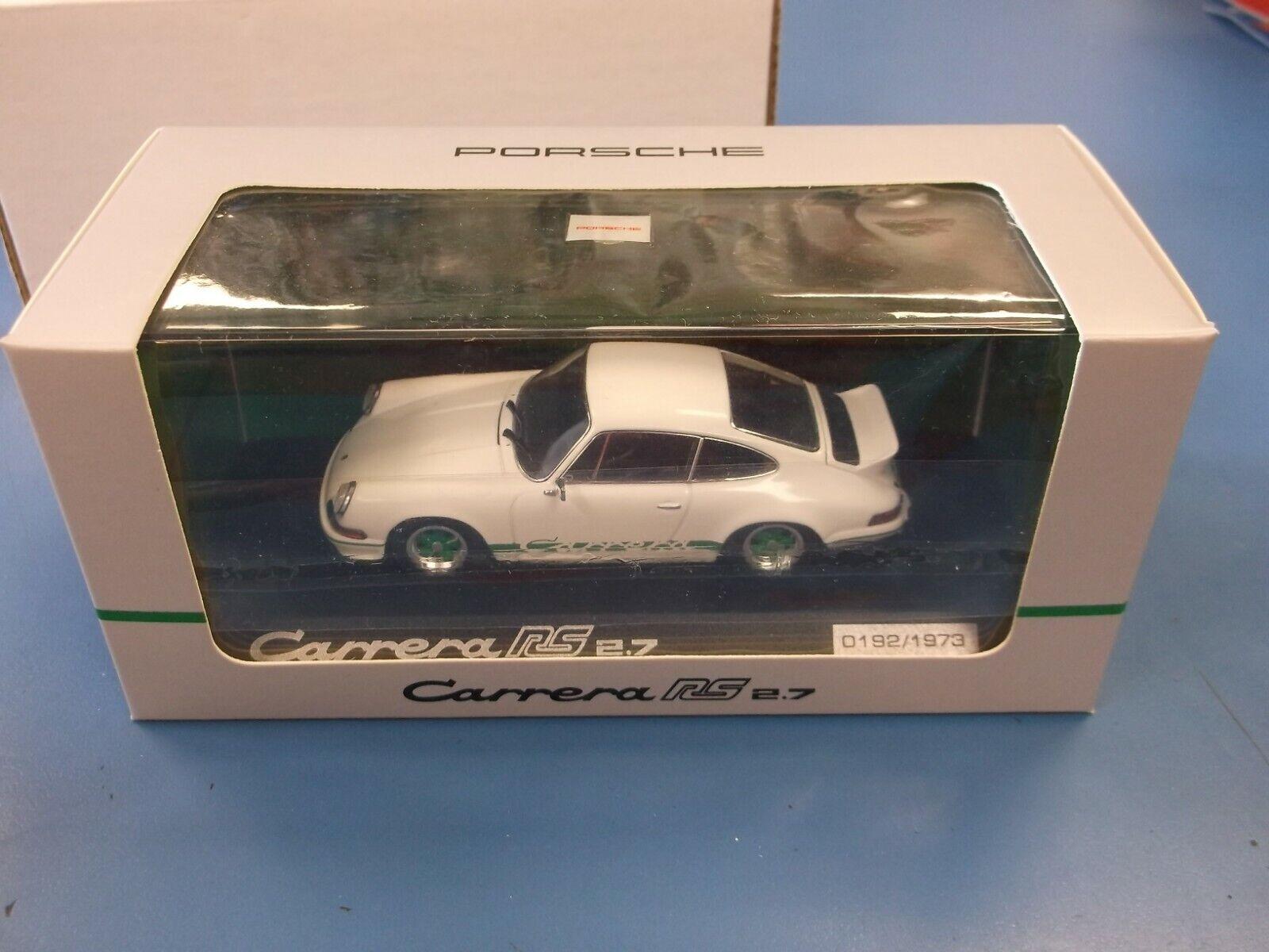 Paul's Model Art  Minichamps 1 43 Scale Porsche Carrera RS 2.7 In White