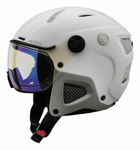 Alpina Attelas Visor VHM Skihelm Snowboardhelm white grey matt