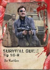 Walking Dead Survival Box Survival Guide Chase Card #SG-R Be Ruthless