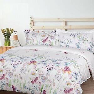 Duvet-3-piece-Cover-Reversible-Set-Pillow-Sham-Zipper-Microfiber-White-All-Size