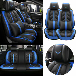 US Car Seat Covers Interior Cushion Front & Rear Full Set PU Leather Accessories