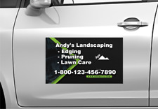 Landscaping Custom Car Magnets Magnetic Auto Truck Signs Set Of 2
