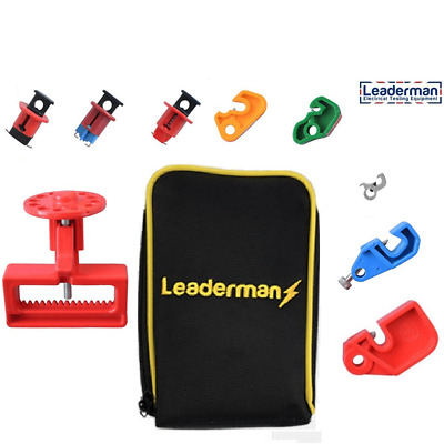 Leaderman Lockout//off MCB//RCD Isolation Kit with large MCB and Padlock LOI-K3
