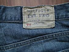 TOMMY HILFIGER Designer Faded Blue Denim Straight Leg Men Jeans Trousers W34 L32