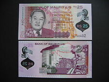 MAURITIUS  25 Rupees 2013  POLYMER  (P64)  UNC