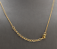 14K-Solid-Yellow-Gold-Bar-Necklace-with-Diamond-Accent thumbnail 2