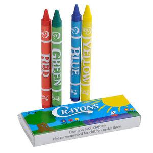 4 Pack Kids Restaurant Crayons - 100 / Box