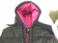 Womens Hooded Winter Puffer Vest, By Athletech, Sizes Sm & Med. Polyester