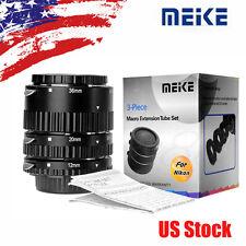 Meike MK-N-AF-B ABS Auto Focus Macro Extension Tube Set For Nikon DSLR Camera AF