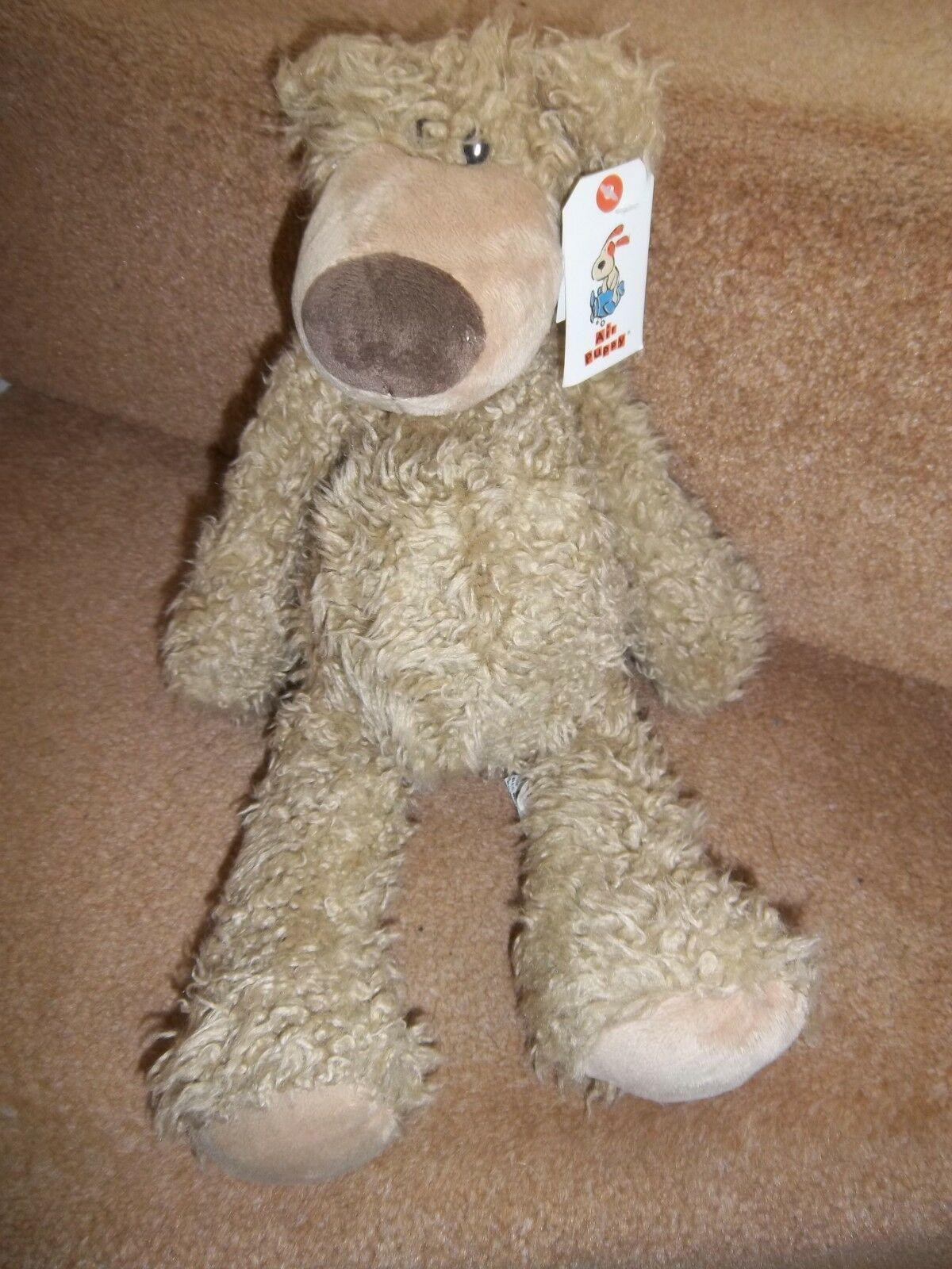 BNWT NEW 15  AIR PUPPY PUDGE DANGLE BROWN BEAR SOFT TOY