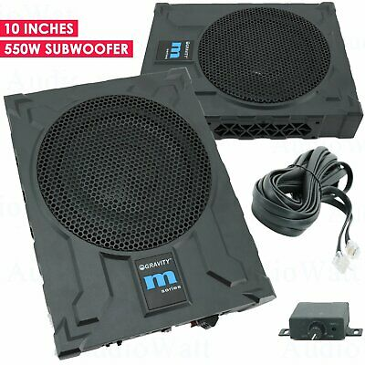 Gravity GRWF10 10-Inch 1200 Watts Car Audio Under Seat Subwoofer Powerful Loud Speaker Pro Audio Active Aluminum Super Slim with High Power Long-Throw 10 Truck Bass Sub