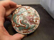 chinese porcelain enamel dragon box