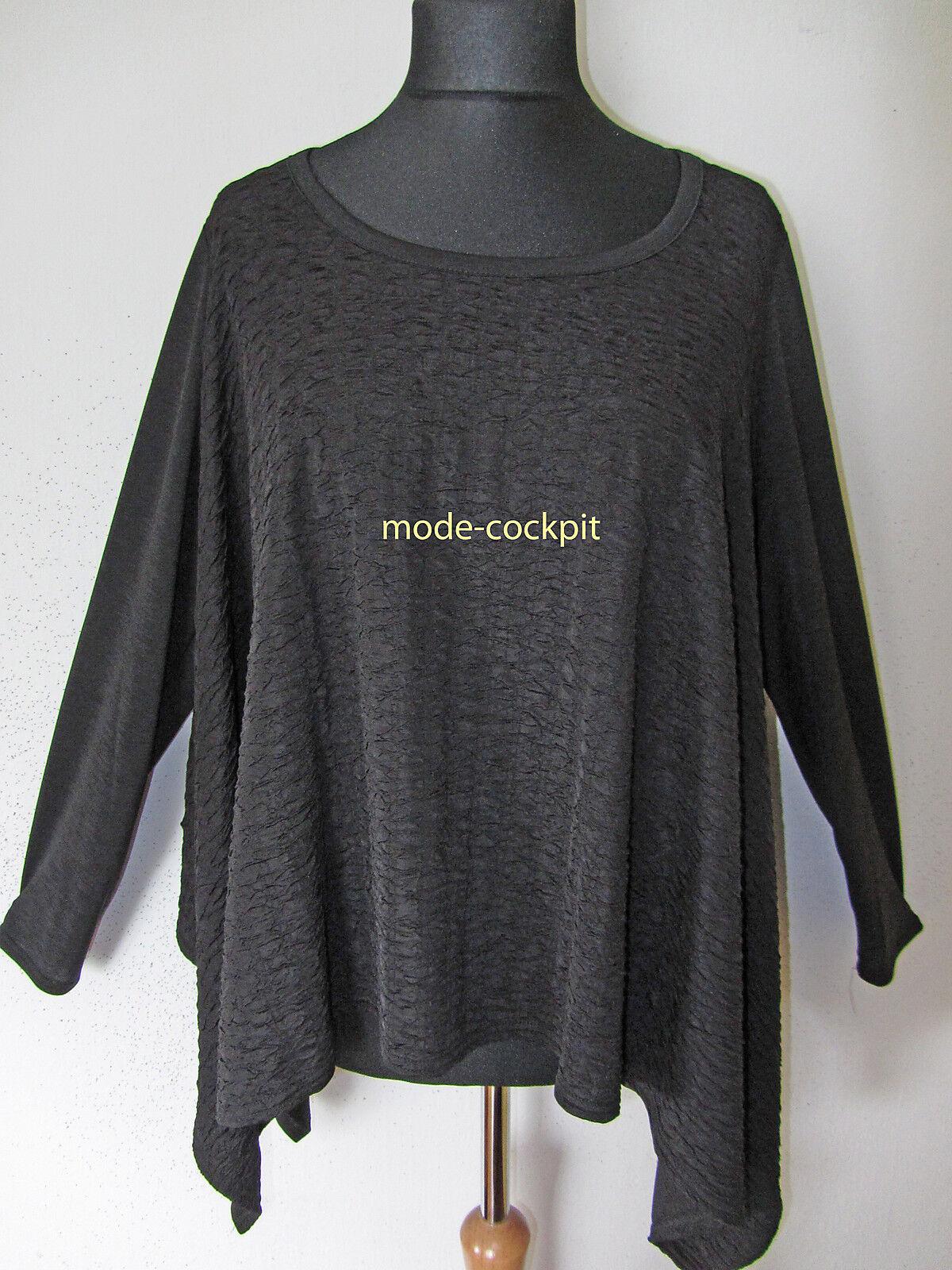 JEAN MARC PHILIPPE kastiges weites OverGröße Shirt Überwurf schwarz T6 48-50