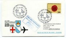 FFC 1982 Alitalia Primo Volo Milano Zurigo P.A. Straordinaria Linate Aeroporto