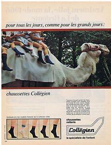 PUBLICITE-ADVERTISING-044-1966-COLLEGIEN-chaussettes-collants
