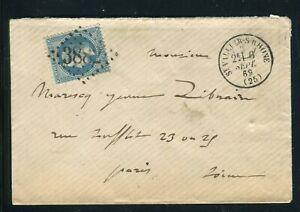 RéAliste Enveloppe De St Vallier/ Rhône Pour Paris En 1869 ,gc 3882 - Réf M125 Bas Prix