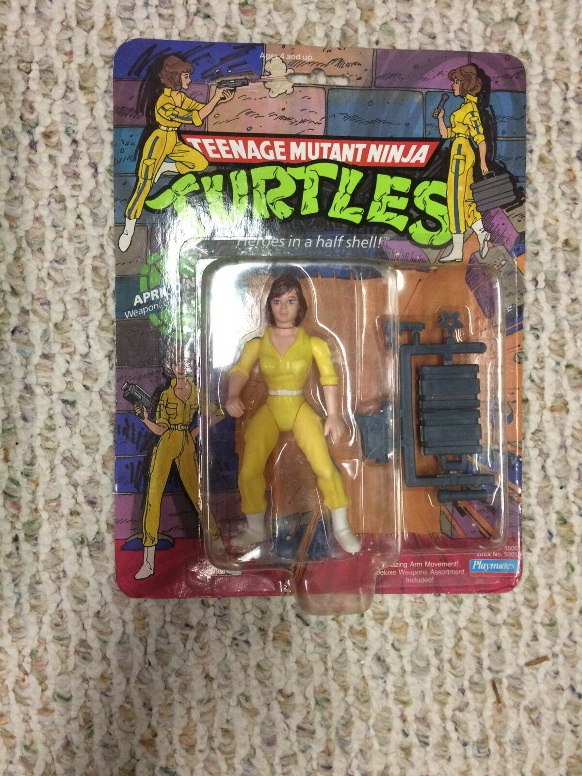 Tmnt april o 'neil actionfigur moc versiegelt.