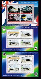 Constructif Channel Tunnel 1994/5 Railway Lettre Timbres Miniature Feuilles X3 Um Neuf Sans Charnière **