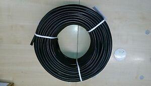 SCHWARZ Bougierrohr ISOLIERSCHLAUCH AUS WEICH PVC 2,0 x 0,4 mm 500 Meter
