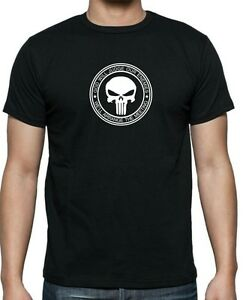 """Marvels PUNISHER /""""God Will Judge.../""""  T-shirt . available in sizes up to 5XL."""