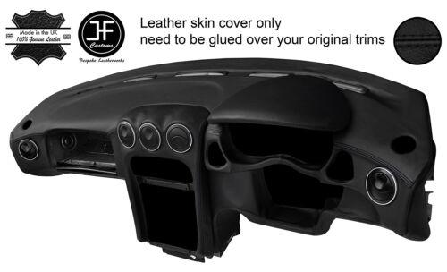 BLACK STITCH DASH DASHBOARD REAL LEATHER COVER FITS ALFA ROMEO GTV 916 PHASE 2